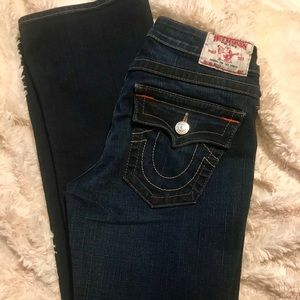 EUC True Religion Becky Low Rise Jeans Size 28